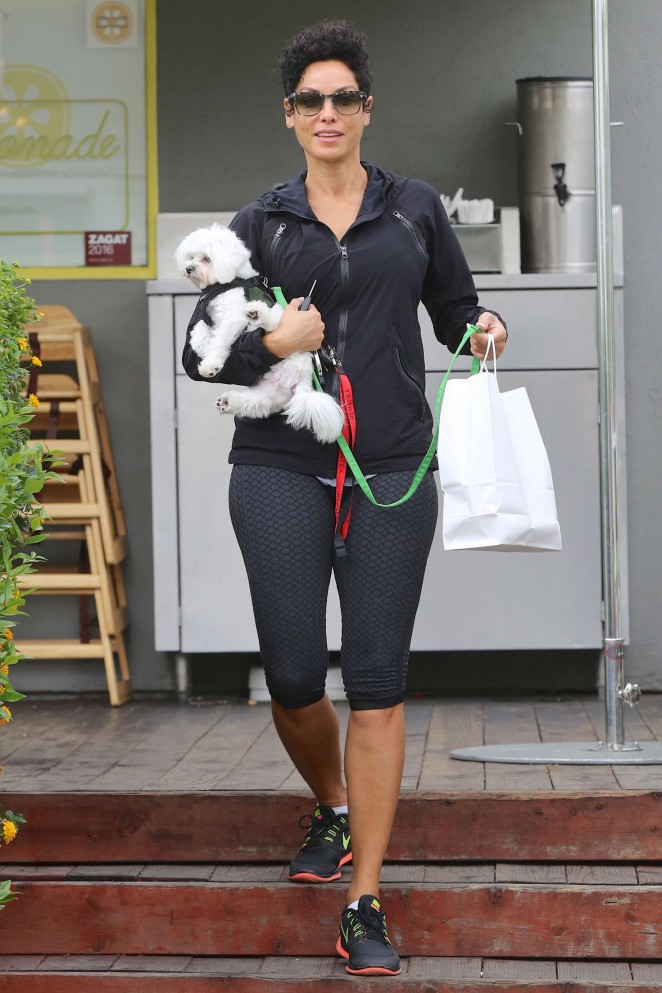 Nicole Murphy in Tight Leggings out in West Hollywood
