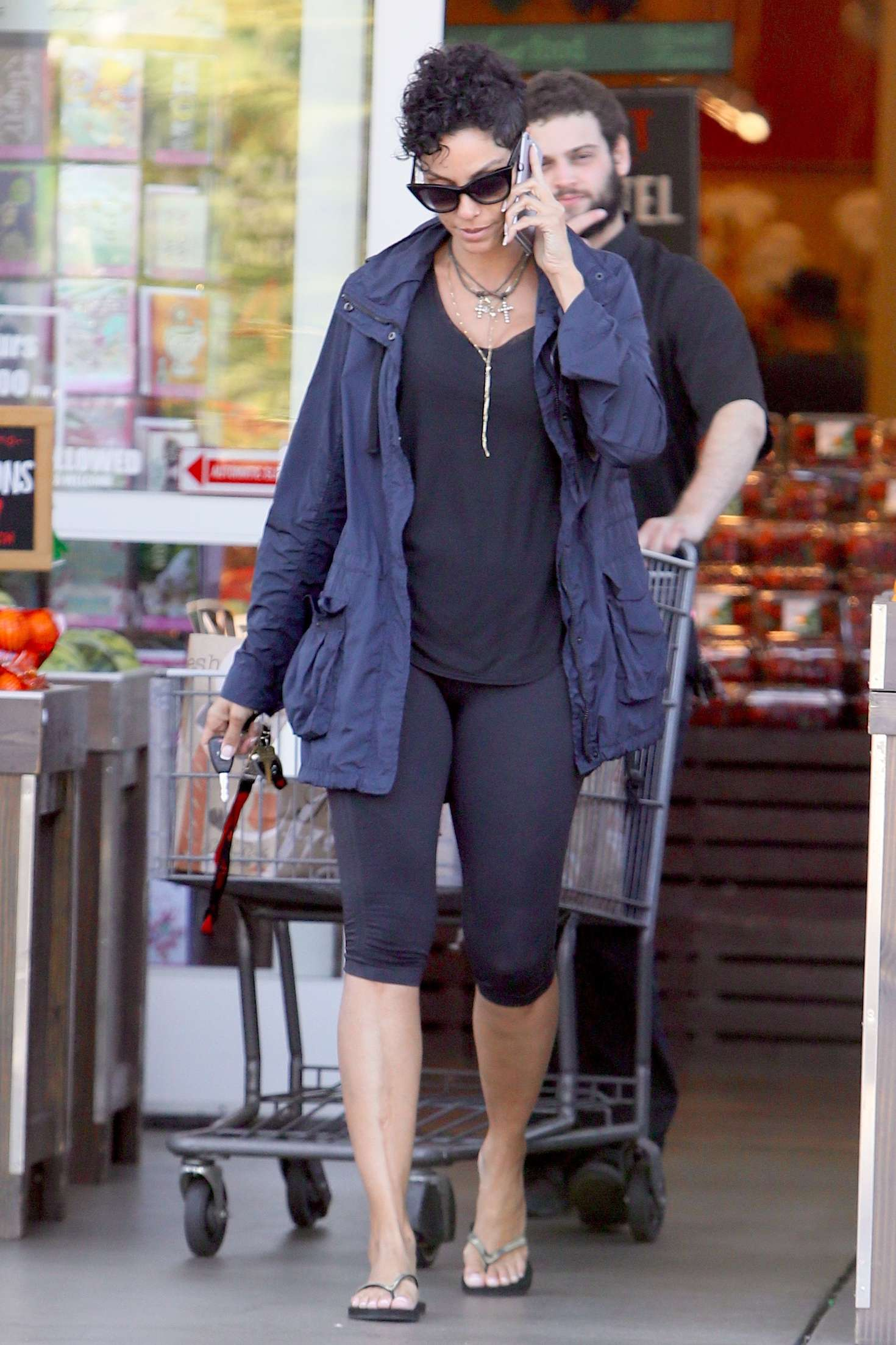 Nicole Murphy in Tights at Bristol Farms in Los Angeles
