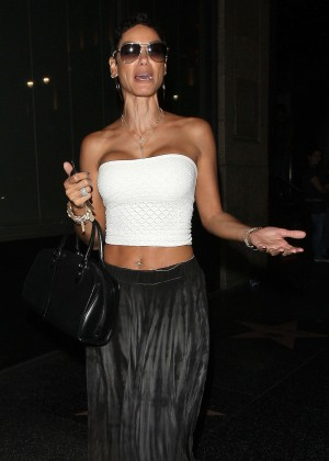Nicole Murphy - Leaves Katsuya Restaurant in Hollywood