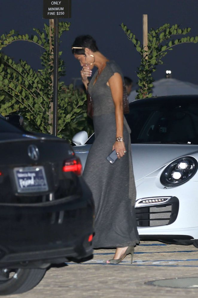 Nicole Murphy – Leaves Nobu in Malibu
