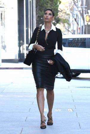 Nicole Murphy - Out in a leather pencil skirt on Rodeo Drive in Beverly Hills