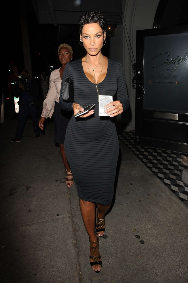Nicole Murphy in Tight Dress Outside Craigs Restaurant