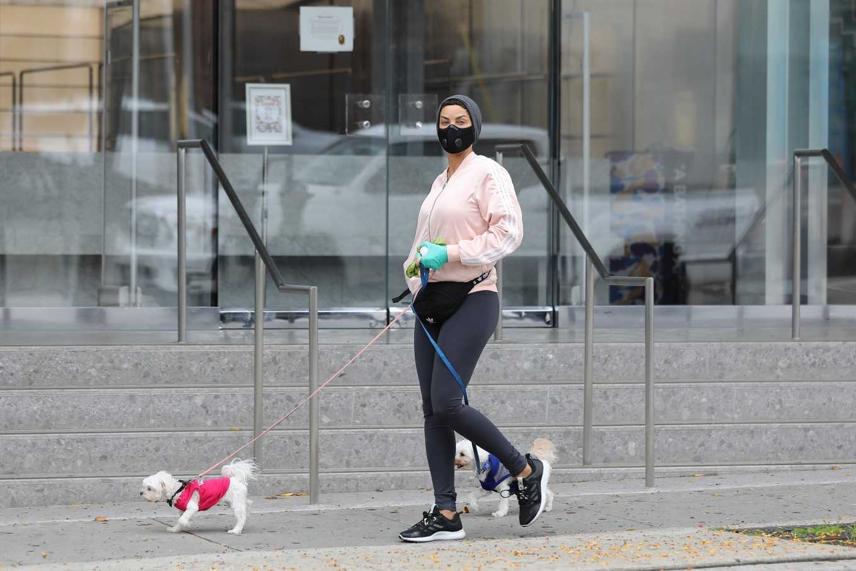 Nicole Murphy 2020 : Nicole Murphy – Takes her dog for a walk during Coronavirus lockdown in Beverly Hills-01