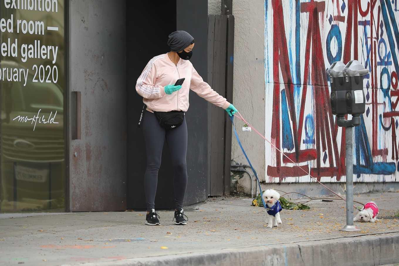 Nicole Murphy 2020 : Nicole Murphy – Takes her dog for a walk during Coronavirus lockdown in Beverly Hills-06