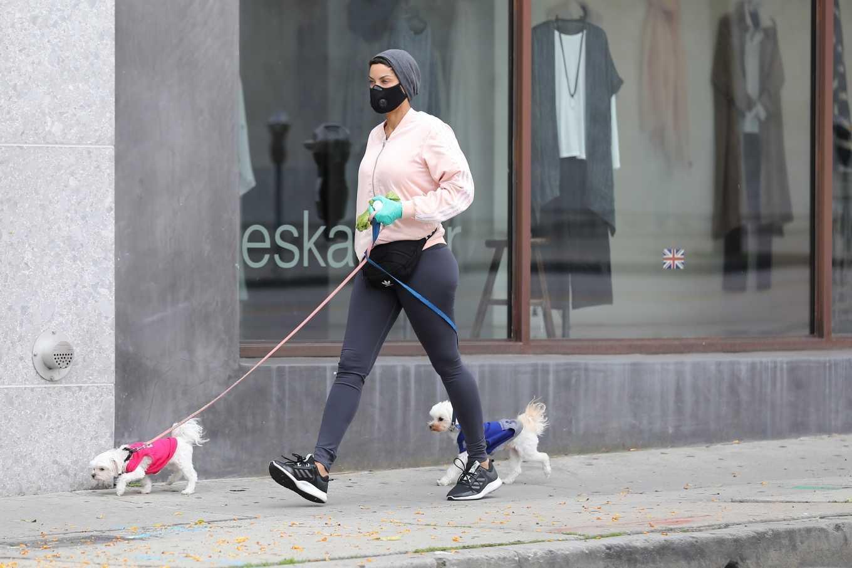 Nicole Murphy 2020 : Nicole Murphy – Takes her dog for a walk during Coronavirus lockdown in Beverly Hills-09