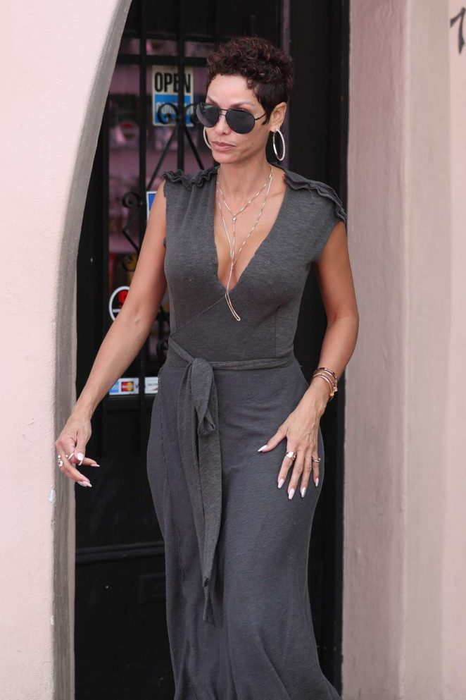Nicole Murphy takes her dogs to Posh Pet Care in West Hollywood