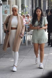 Nicole Murphy with daughter Bella out in Beverly Hills