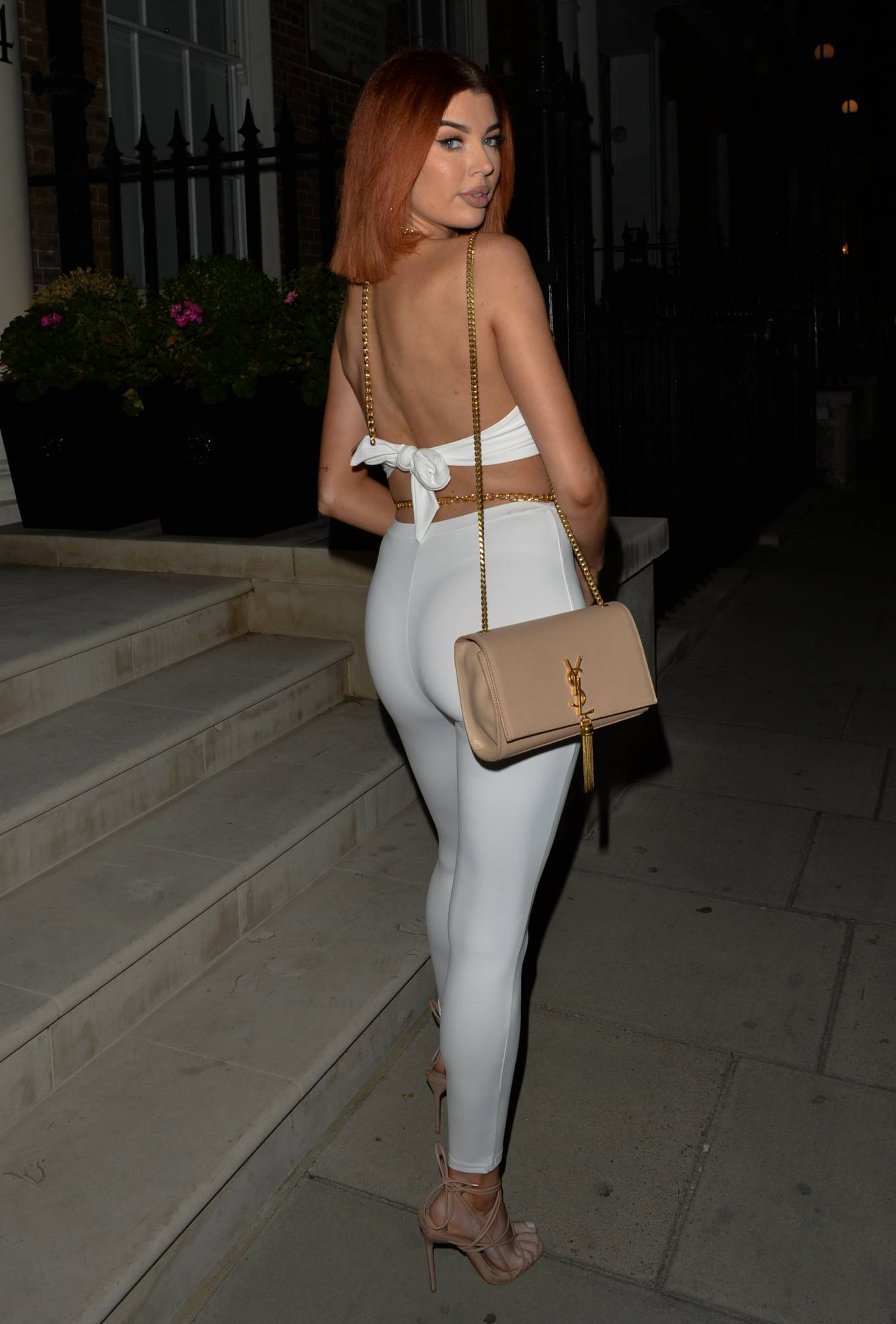 Nicole O'Brien - Seen at MKNY house in Mayfair - London