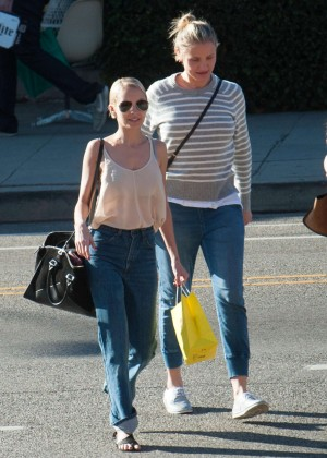 Nicole Richie and Cameron Diaz Shopping in Los Angeles