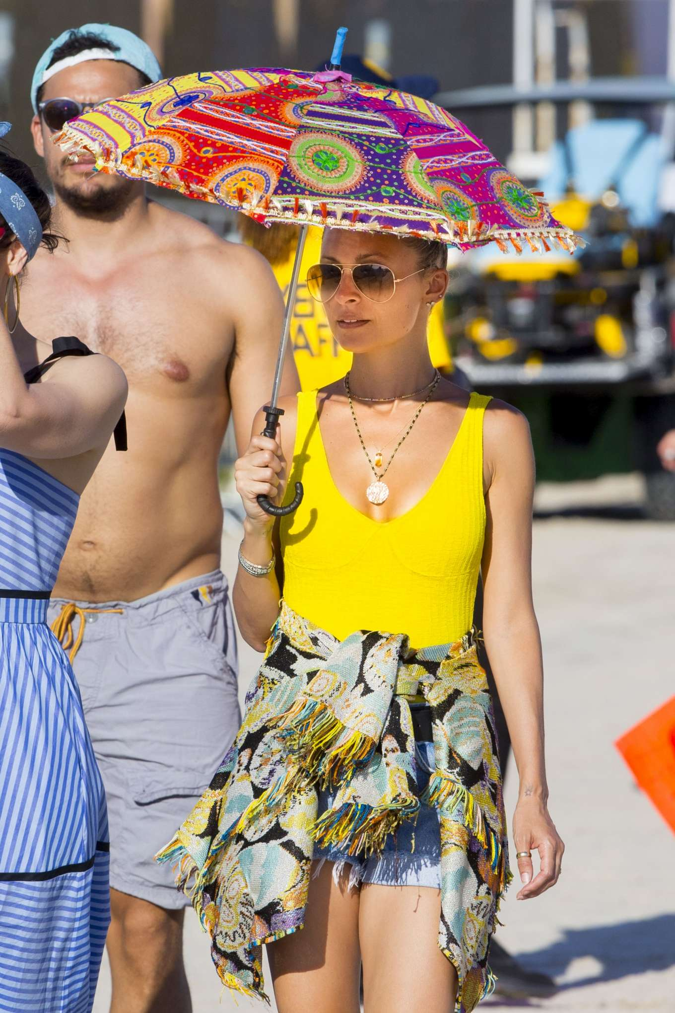 Nicole Richie at the Jazz Fest in New Orleans