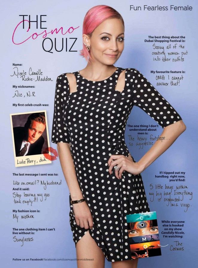 Nicole Richie – Cosmopolitan Middle East (March 2015)