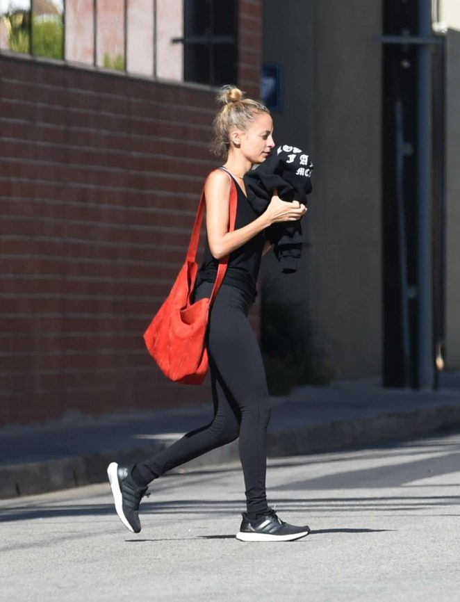 Nicole Richie - Finishes a Workout in Los Angeles
