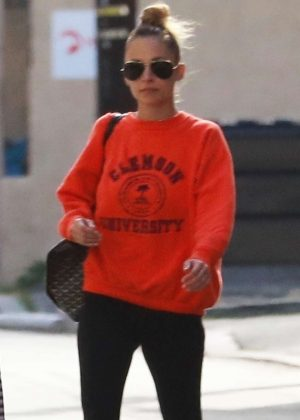 Nicole Richie in Spandex - Out in Studio City