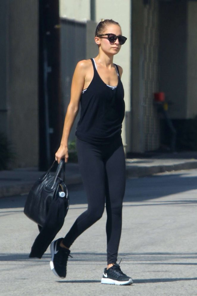Nicole Richie in Tights out in Studio City