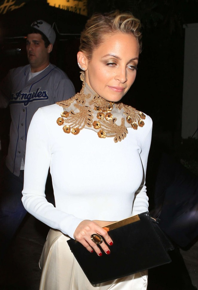 Nicole Richie night out at restaurant in Hollywood