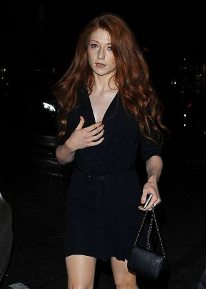 Nicole Roberts - Leaving Sexy Fish Restaurant in London