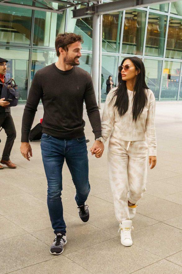 Nicole Scherzinger And Boyfriend Tom Evans - Arrive In The UK
