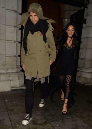 Nicole Scherzinger and Grigor Dimitrov - Leaves Milo Restaurant in London