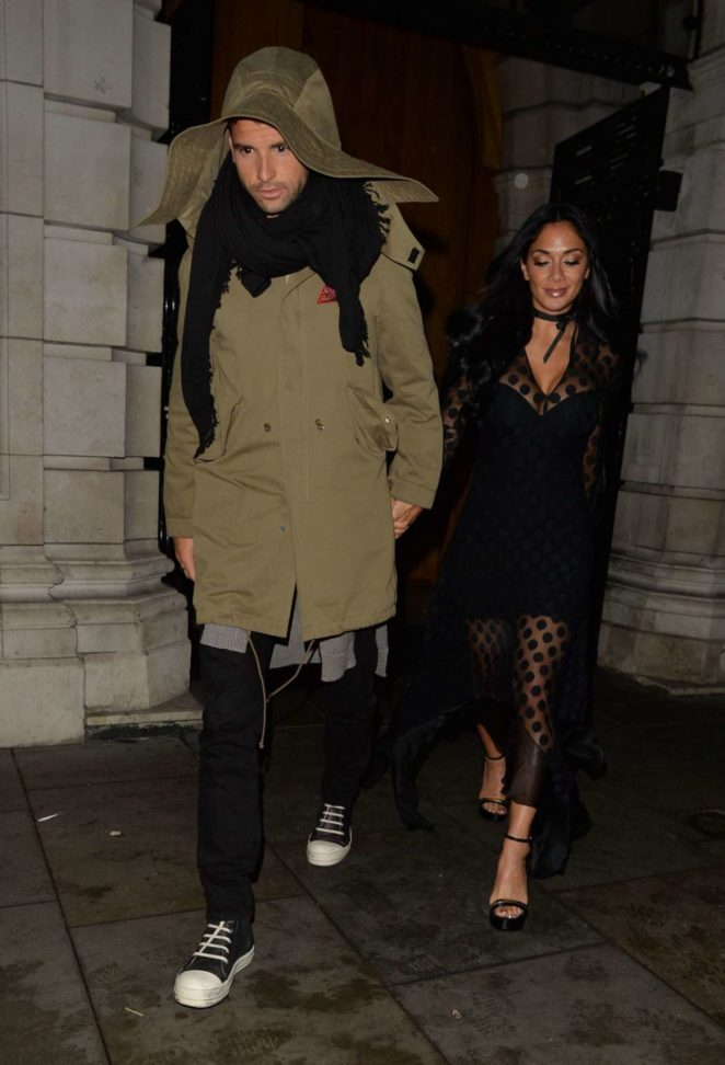 Nicole Scherzinger and Grigor Dimitrov - Leaves Milo Restaurant in London