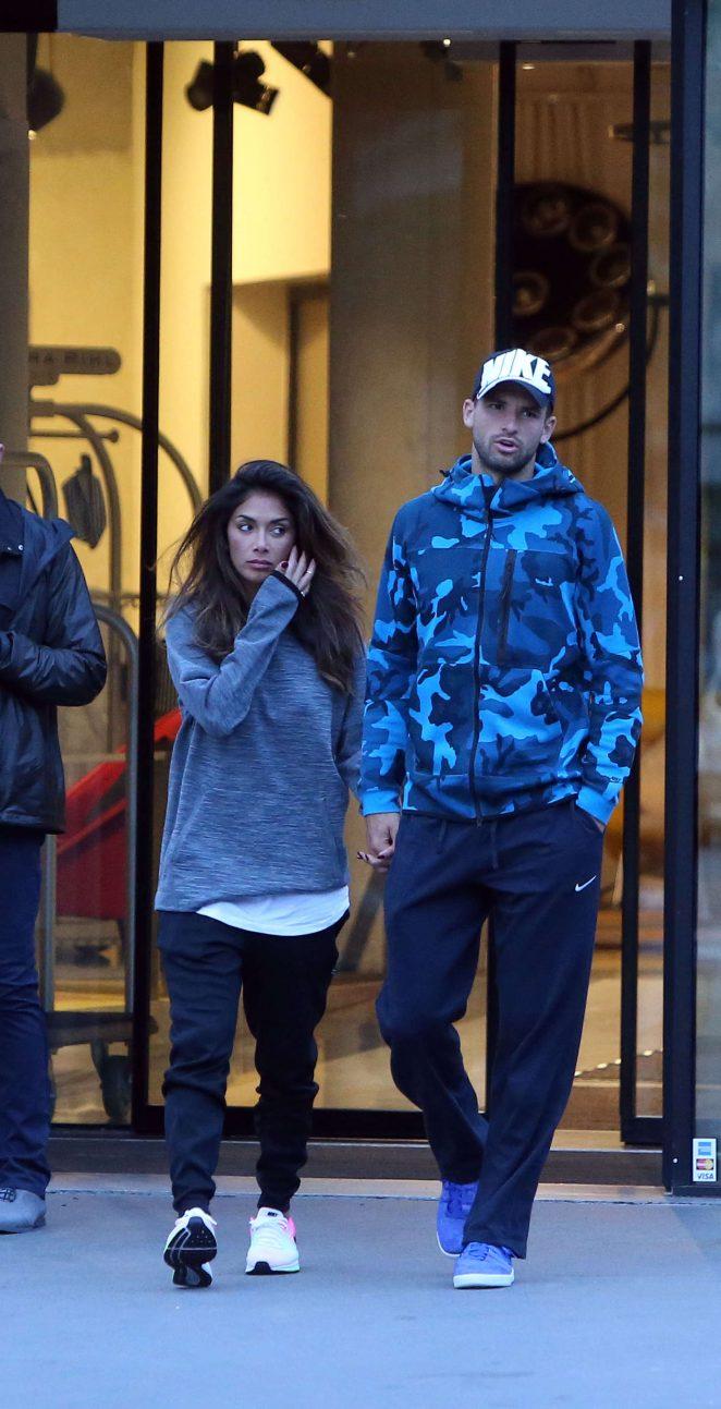 Nicole Scherzinger and Grigor Dimitrov out in Paris