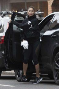 Nicole Scherzinger and her boyfriend Thom Evans enjoyed a trip to a cafe in London