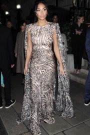 Nicole Scherzinger - Arrives at British Vogue's Fashion & Film Party 2020 in London