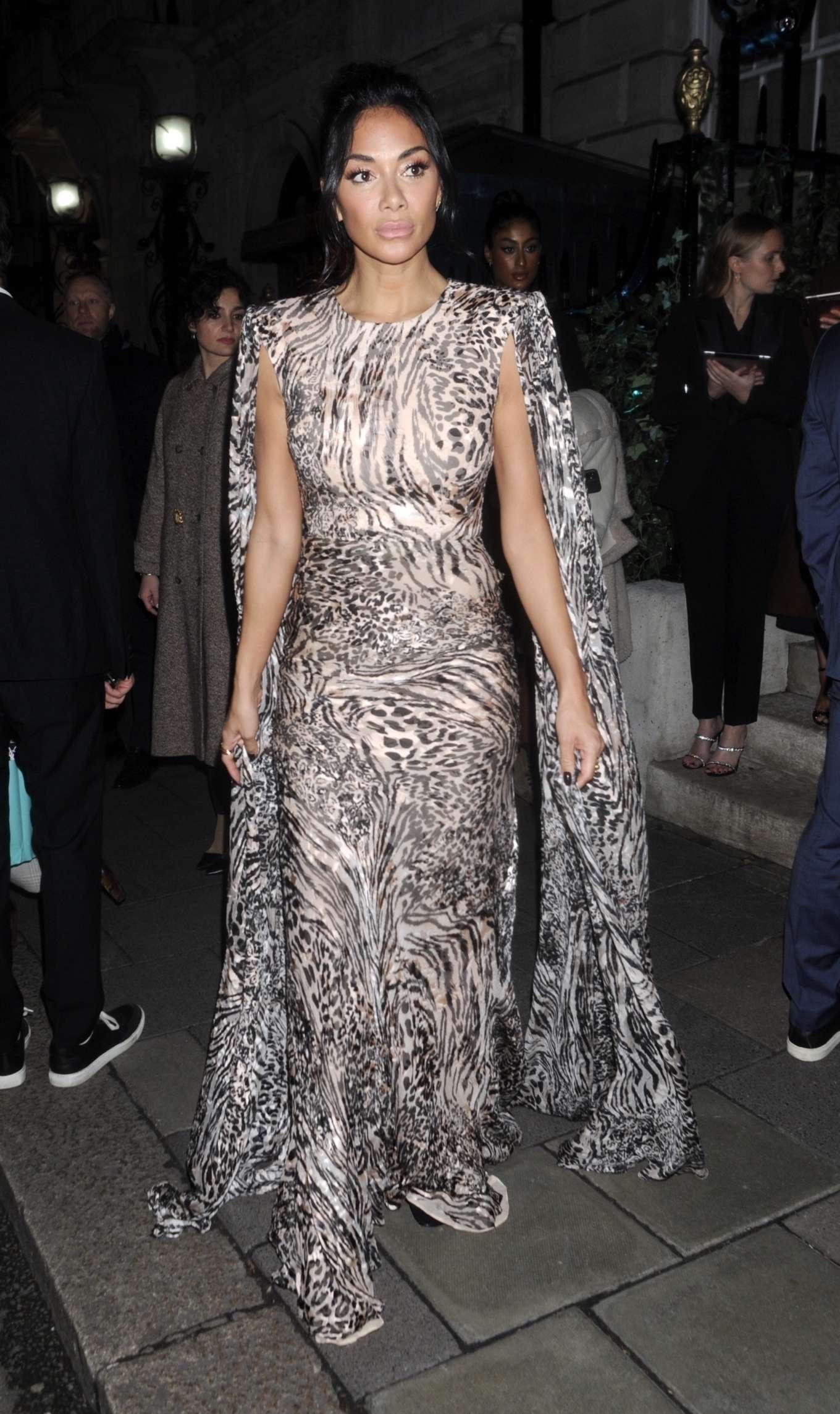 Nicole Scherzinger - Arrives at British Vogue's Fashion & Film Party 2020 in London