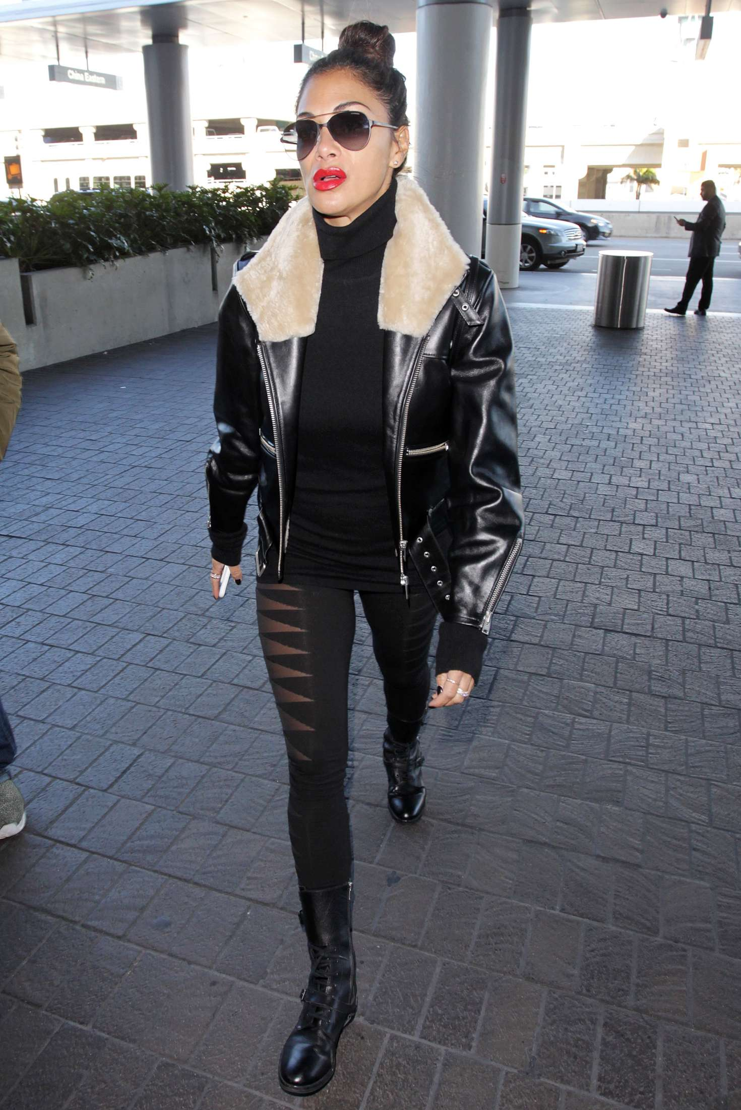 Nicole Scherzinger Arrives at the Los Angeles International Airport