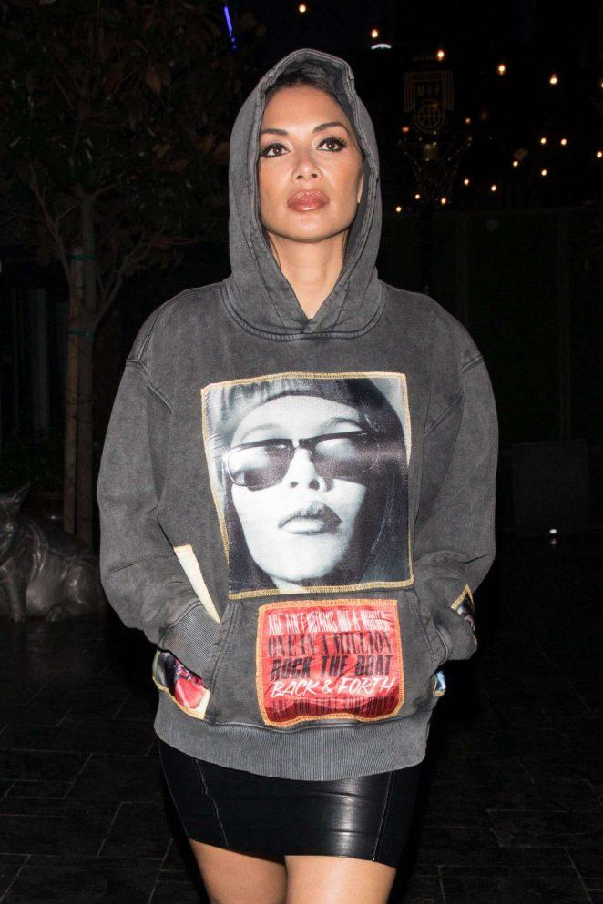 Nicole Scherzinger - Arriving to Avenue in Hollywood