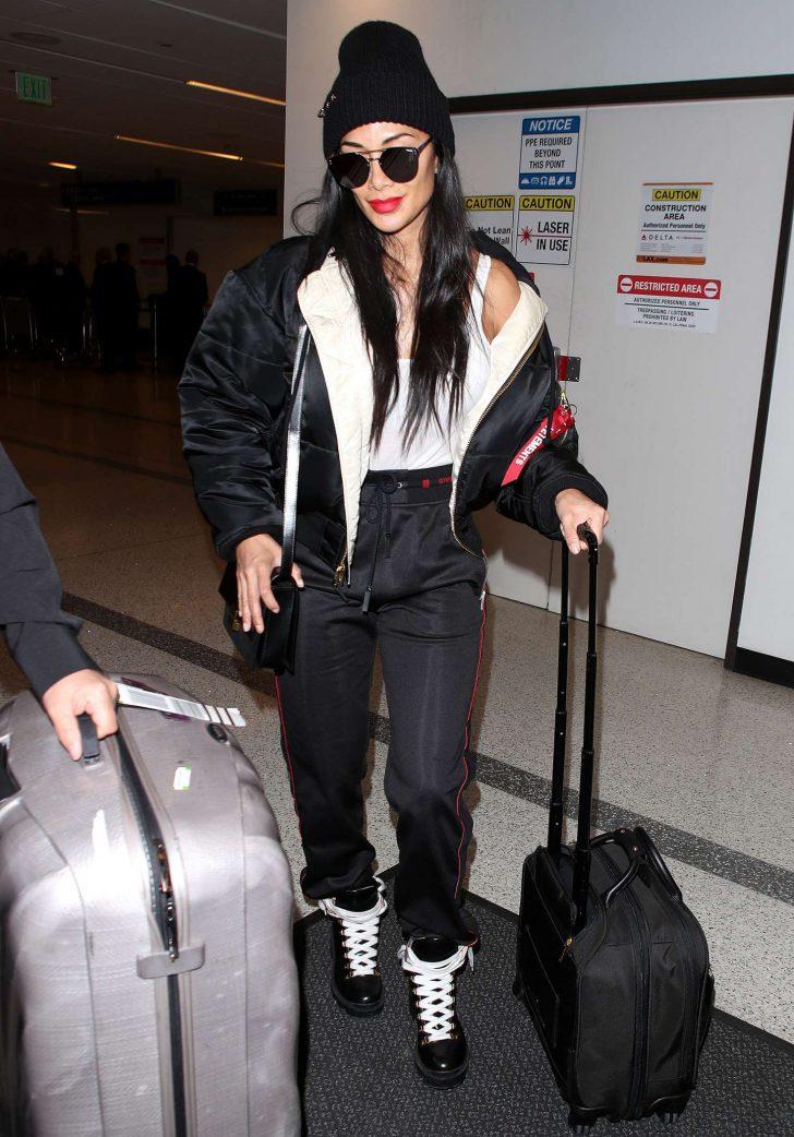 Nicole Scherzinger at Los Angeles International Airport in LA