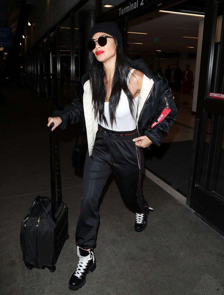 Nicole Scherzinger at Los Angeles International Airport -07