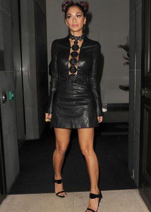 Nicole Scherzinger at Mr Chow restaurant in London