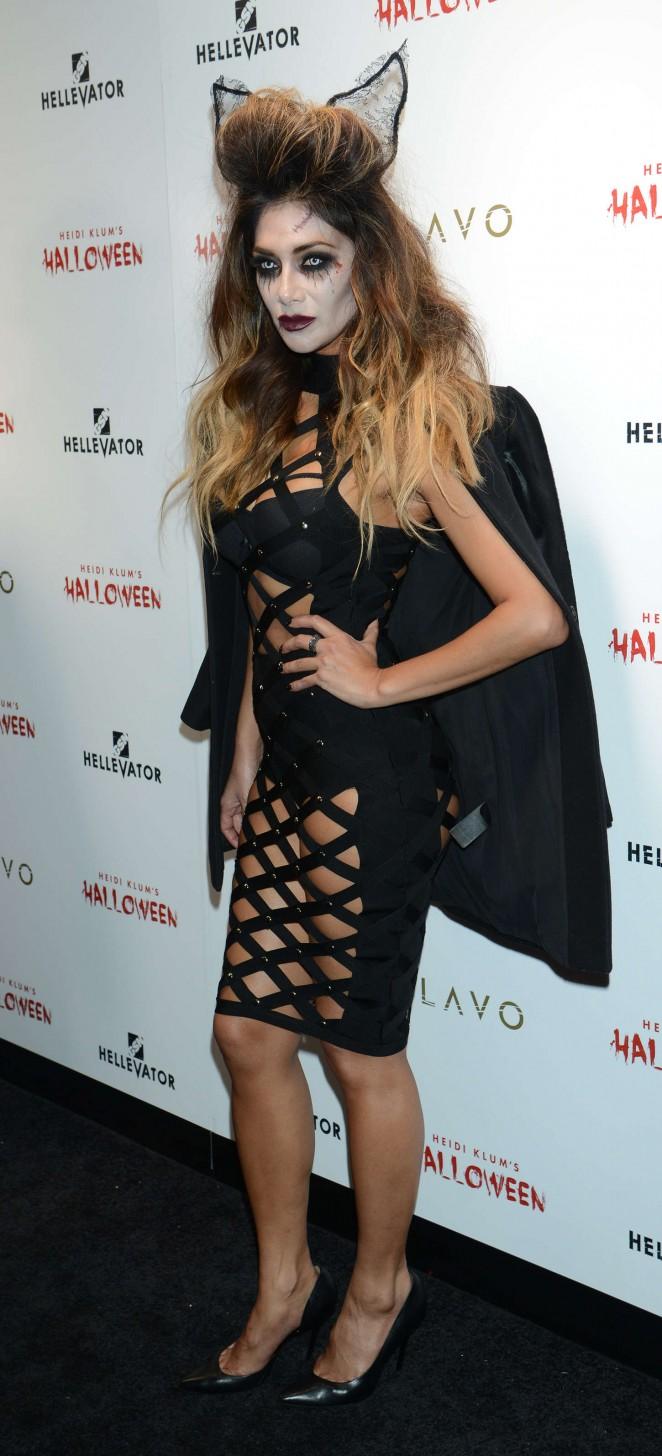 Nicole Scherzinger: Heidi Klum Halloween Party 2015 -05