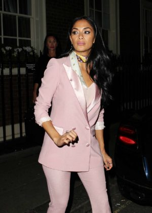 Nicole Scherzinger in Pink Suit out in London