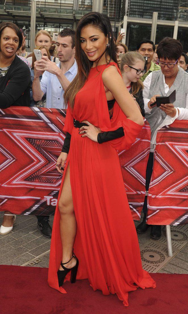 Nicole Scherzinger in Red Dress at Wembley Arena in London