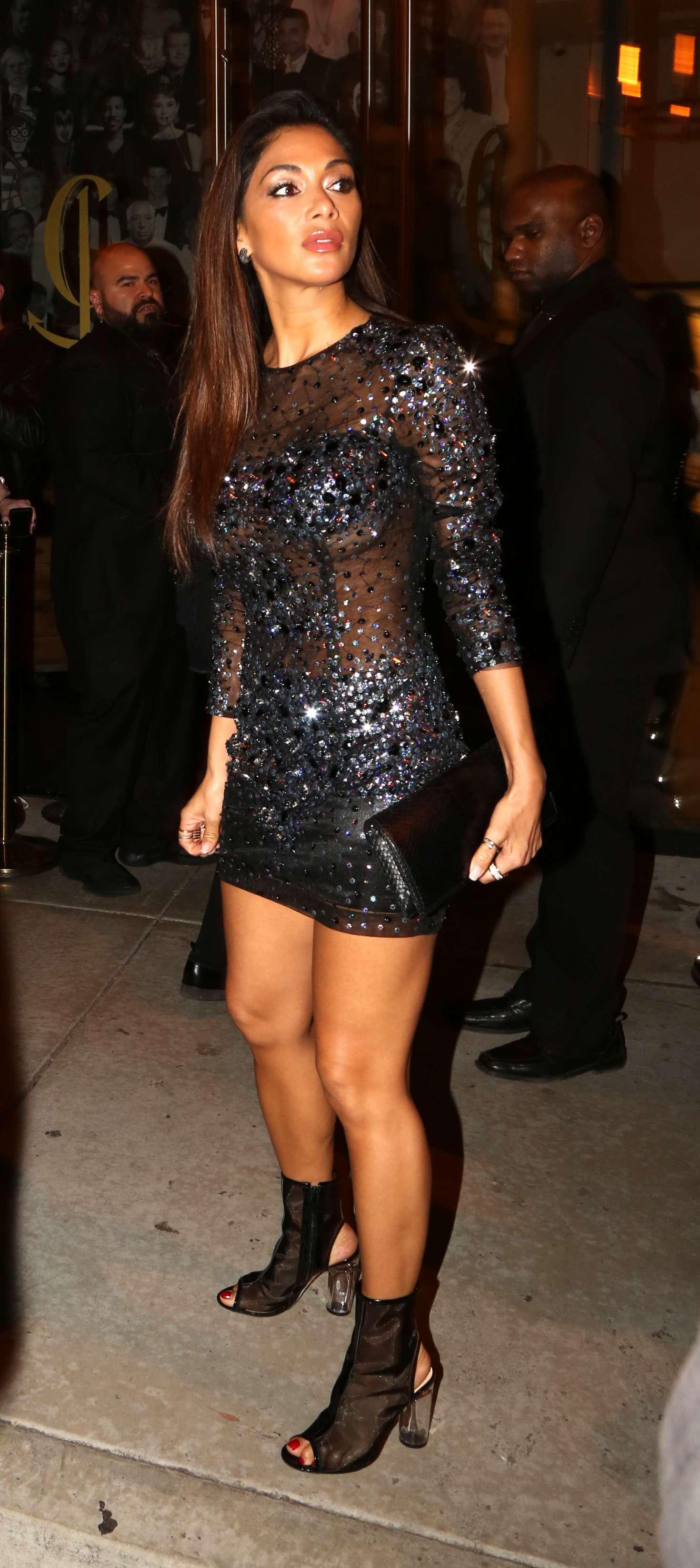 Nicole Scherzinger In Short Dress At Catch In Los Angeles