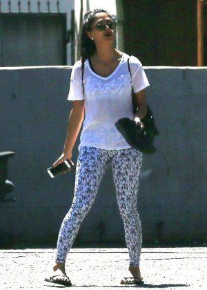 Nicole Scherzinger in Tights at Dance Studio in LA