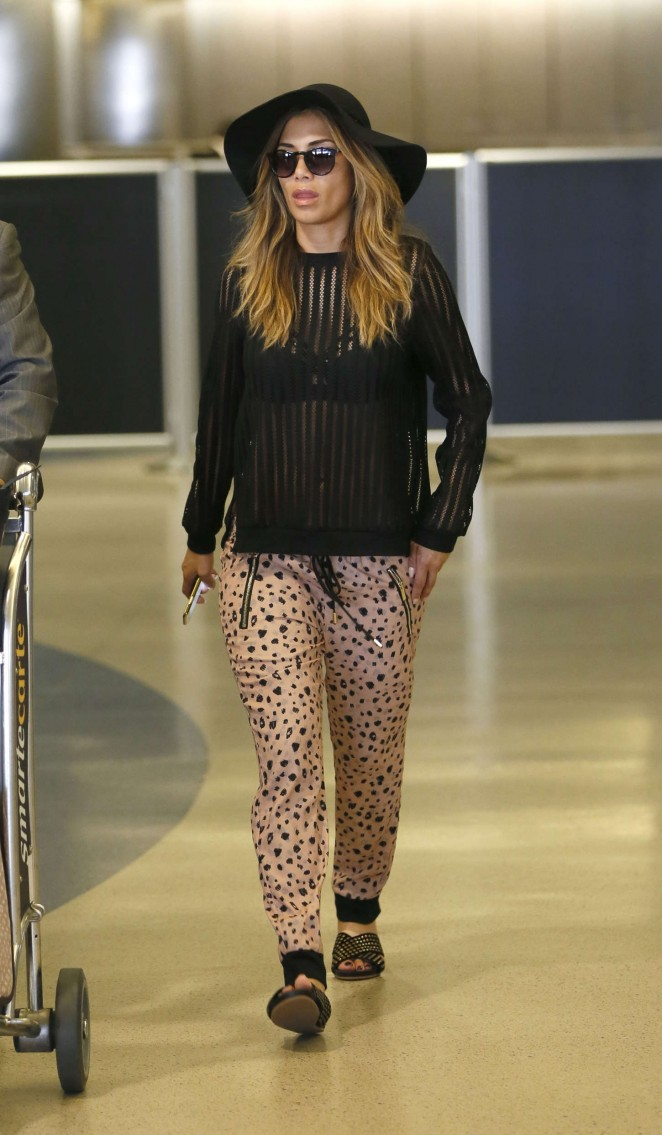 Nicole Scherzinger - LAX airport in LA