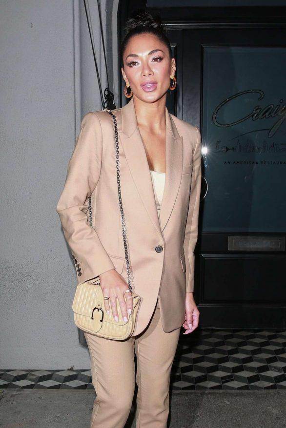 Nicole Scherzinger - Leaves Craig's Restaurant in West Hollywood