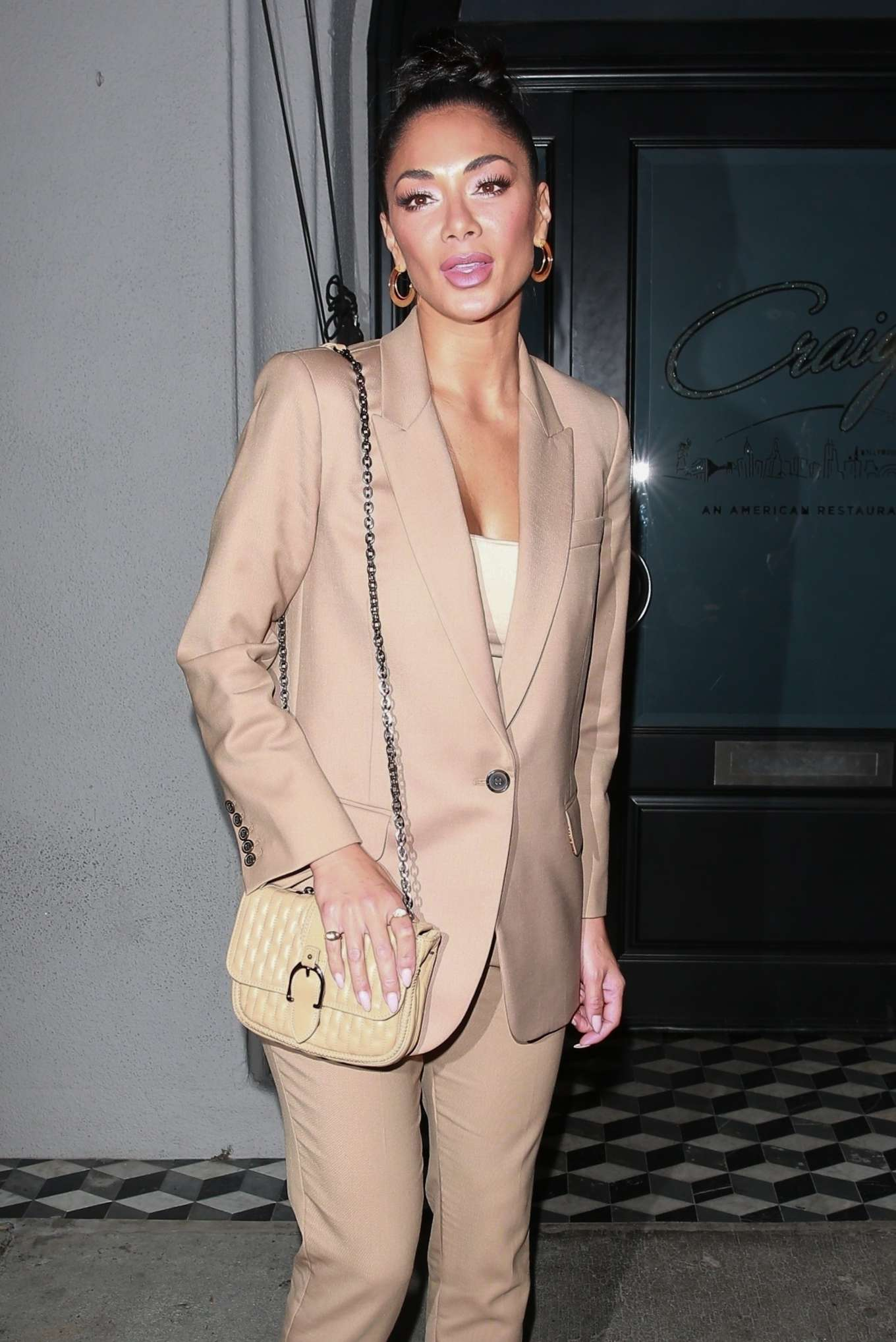 Nicole Scherzinger - Leaves Craig's Restaurant in West Hollywood