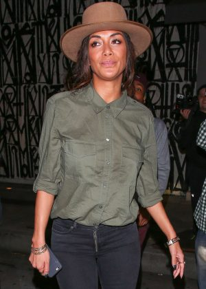 Nicole Scherzinger Leaves Craig's restaurant in West Hollywood