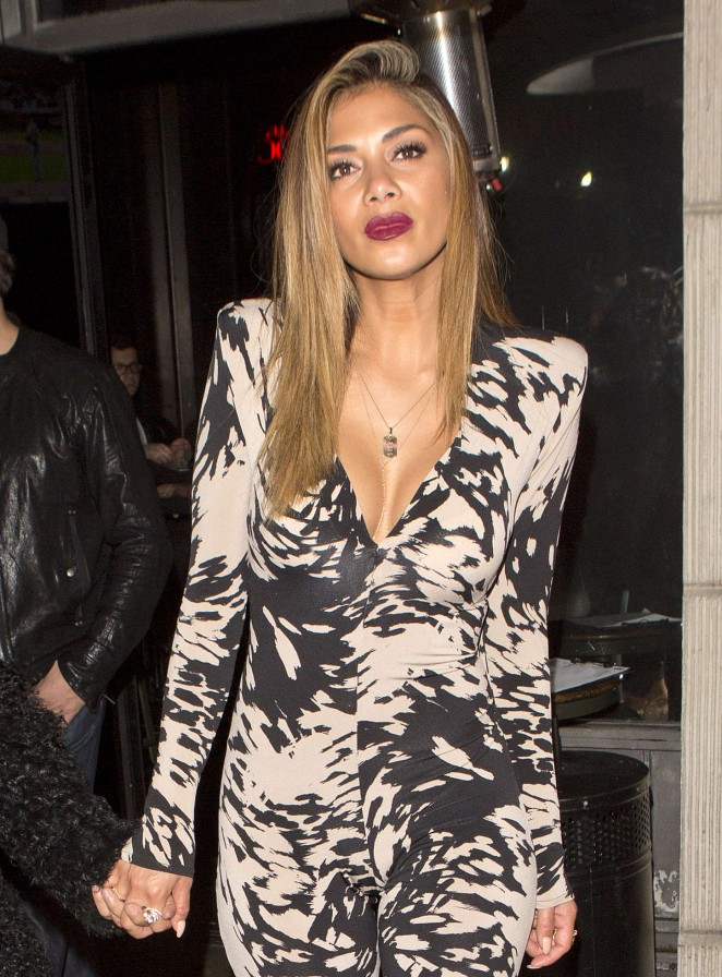 Nicole Scherzinger - Leaving a club in Hollywood