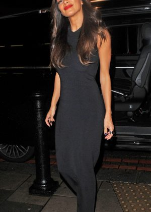 Nicole Scherzinger Leaving C Restaurant in London