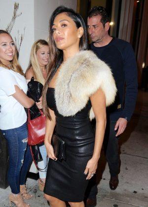 Nicole Scherzinger Leaving Catch Restaurant in West Hollywood