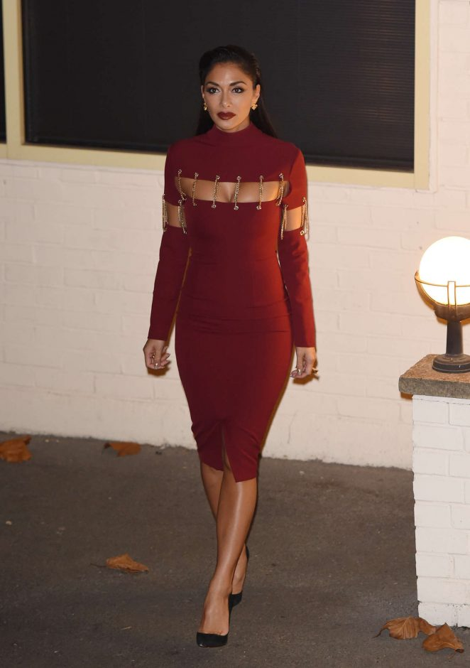 Nicole Scherzinger - Leaving Fountain Studios in London