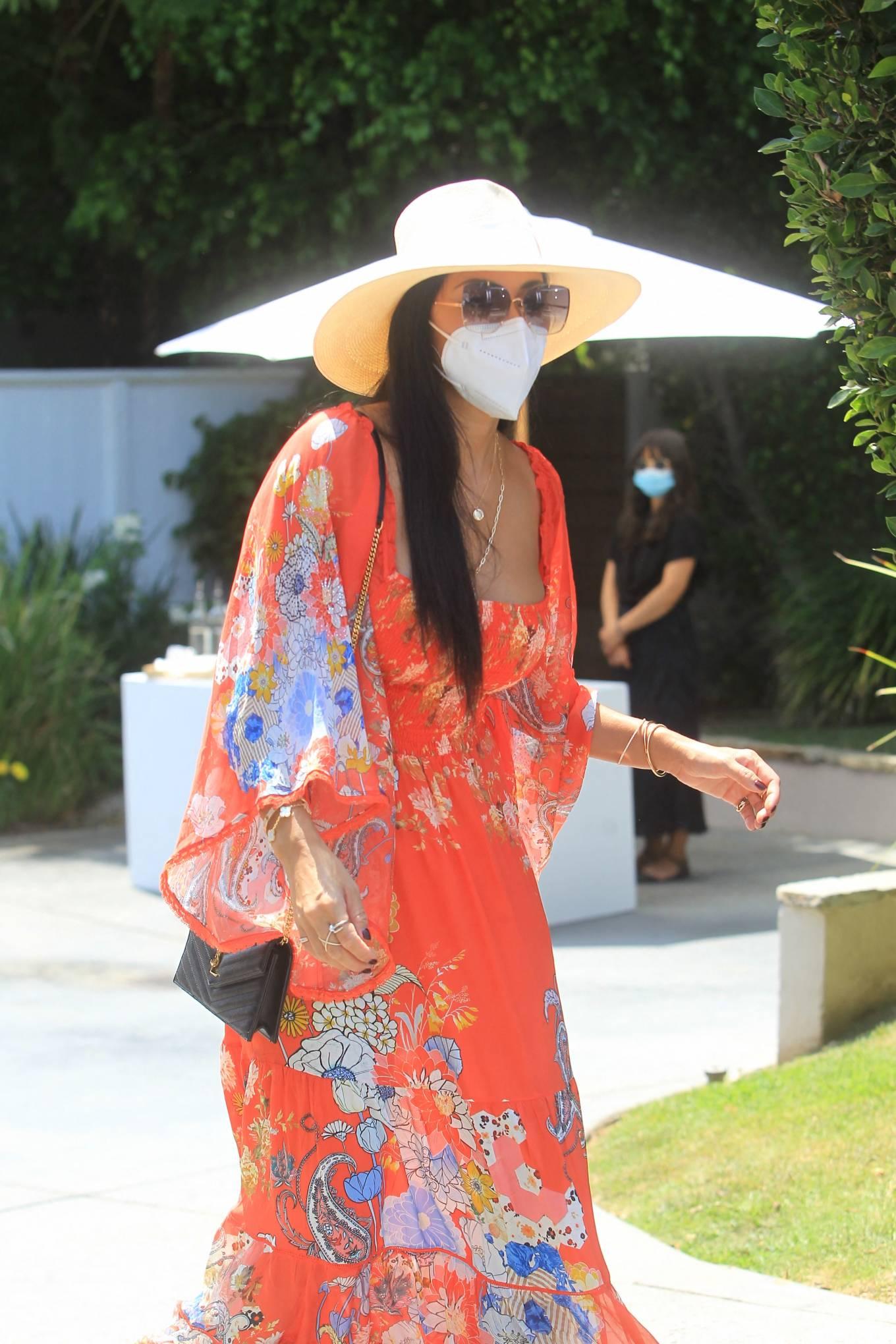Nicole Scherzinger - Leaving Jennifer Klien's Day of Indulgence in Brentwood
