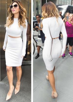 Nicole Scherzinger - Leaving SiriusXM Studios in NYC