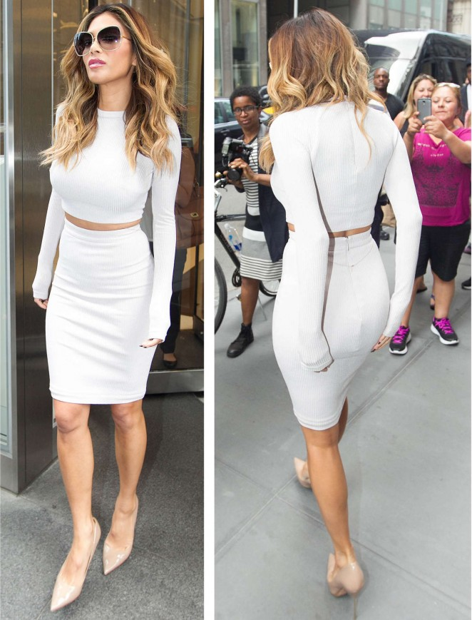Nicole Scherzinger - Leaving SiriusXM Studios in NYC