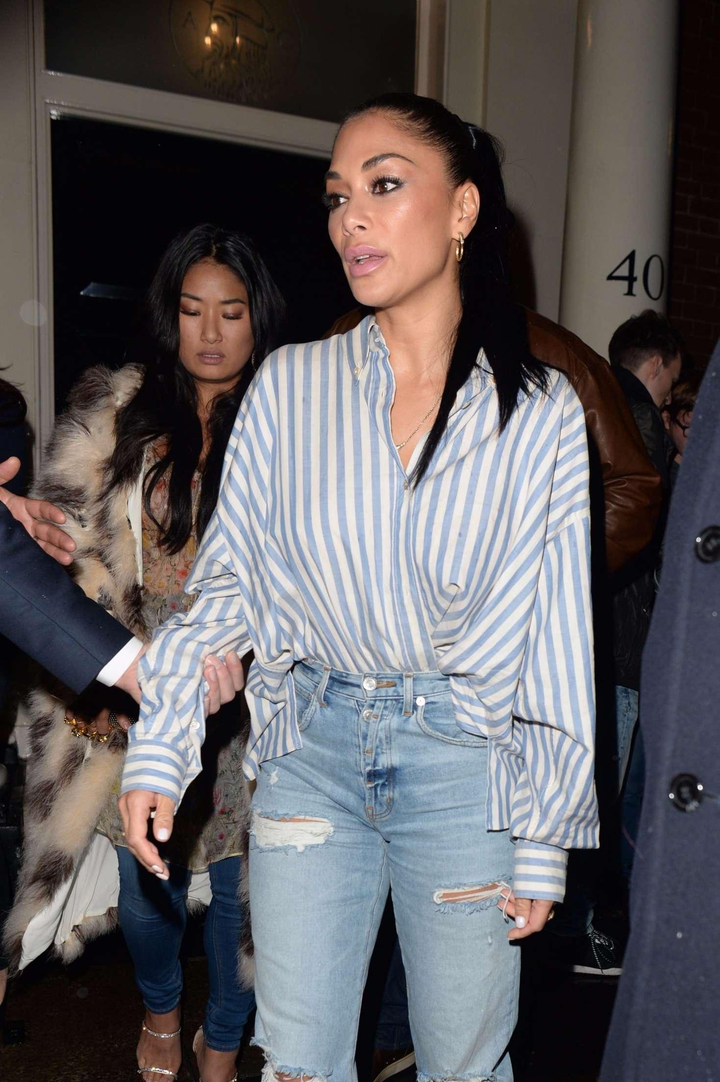 Nicole Scherzinger - Leaving The Arts Club in London