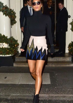 Nicole Scherzinger - Leaving the Arts Club in Mayfair